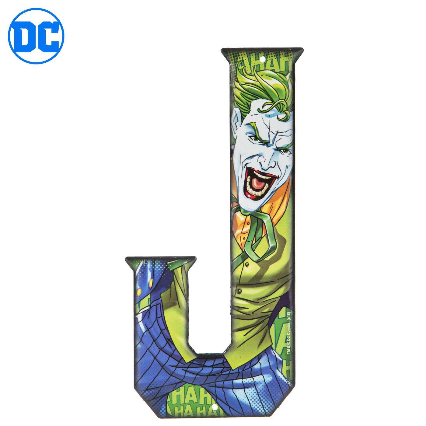 Superhero Letter Metal Wall Decor Marvel and DC Comic Letters (J) Joker Avengers