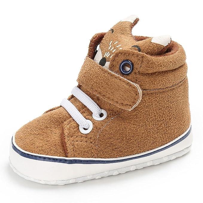 YanHoo Zapatos para niños Boys Fox High Cut Shoes Sneaker Antideslizante Soft Sole Toddler Zapatillas de Lona Altas Fox para bebé Zapatos de otoño e ...