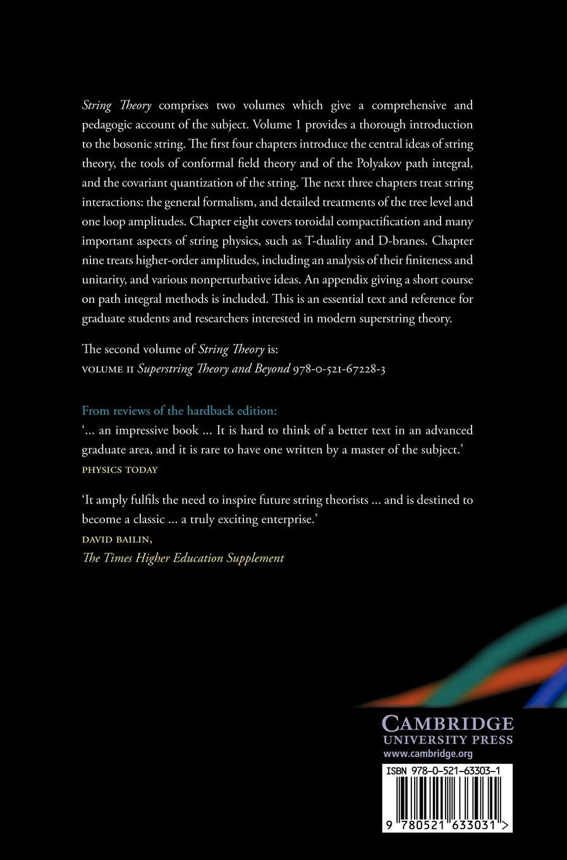 String Theory: Volume 1: Amazon.co.uk: Joseph Polchinski: 9780521633031:  Books