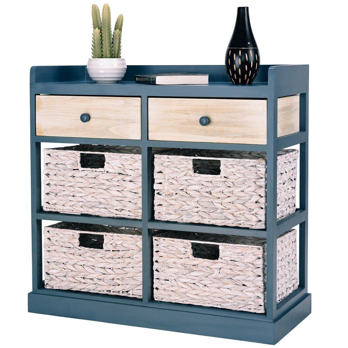 BESTChoiceForYou Cabinet Table Storage Side Wood Drawers Console Sideboard Cupboard W Furniture End Vidaxl White Baskets Drawer Door Home by BESTChoiceForYou (Image #1)