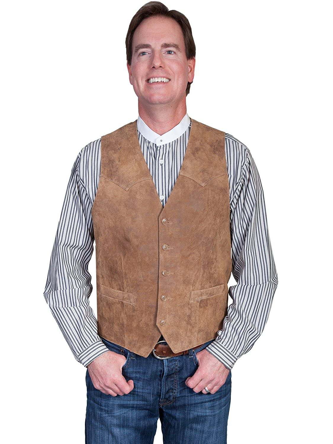 Scully Mens Lamb Leather Western Vest 082983
