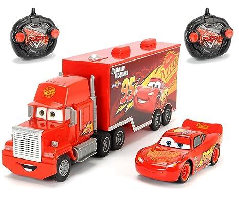 Dickie Toys 203088002 Turbo Mack - Juego de vehículos teledirigidos y Flash Mcqueen