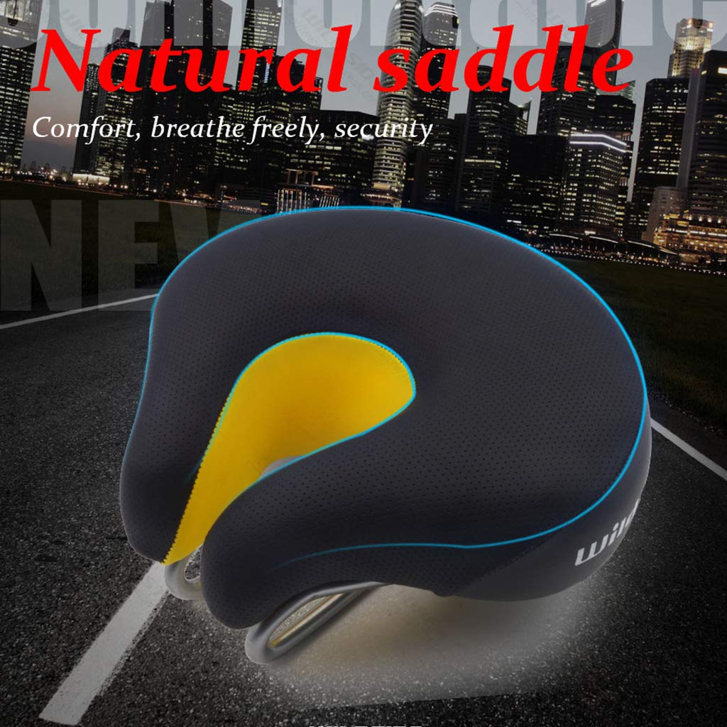 JIBO Bicycle Saddle MTB Road Adult Comfortable Open Noseless Bike Front Cushion Cycling Saddle Exercise Bicycle Seat Parts