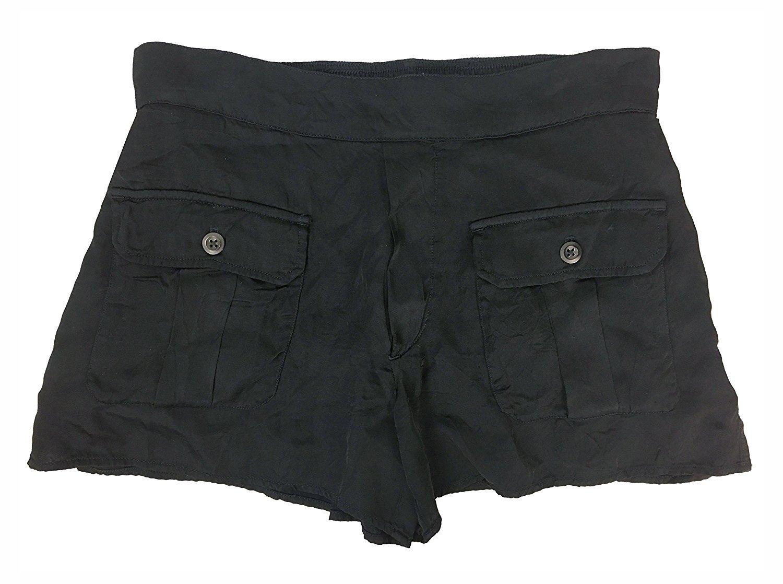 Denim & Supply Ralph Lauren Women's Buttoned-Pocket Shorts (Medium, Polo Black)