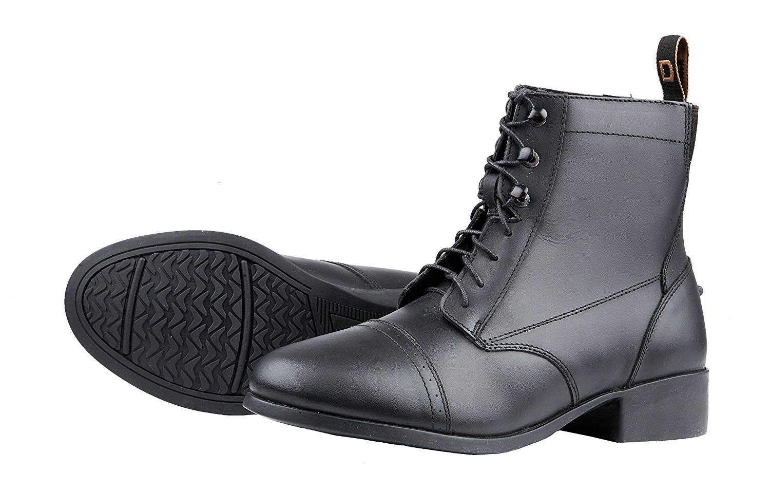 Dublin Foundation Laced Paddock Boots (Black, Childs 3)