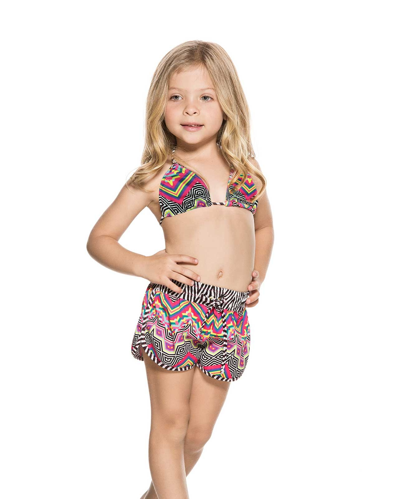 AGUA BENDITA BENDITO POLIGONO KIDS SHORT, 6 by Agua Bendita