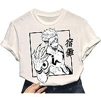 Jujutsu Kaisen Ryomen Sukuna T-shirt Zomer Unisex Korte mouw Sukuna T-shirt voor mannen Vrouwen