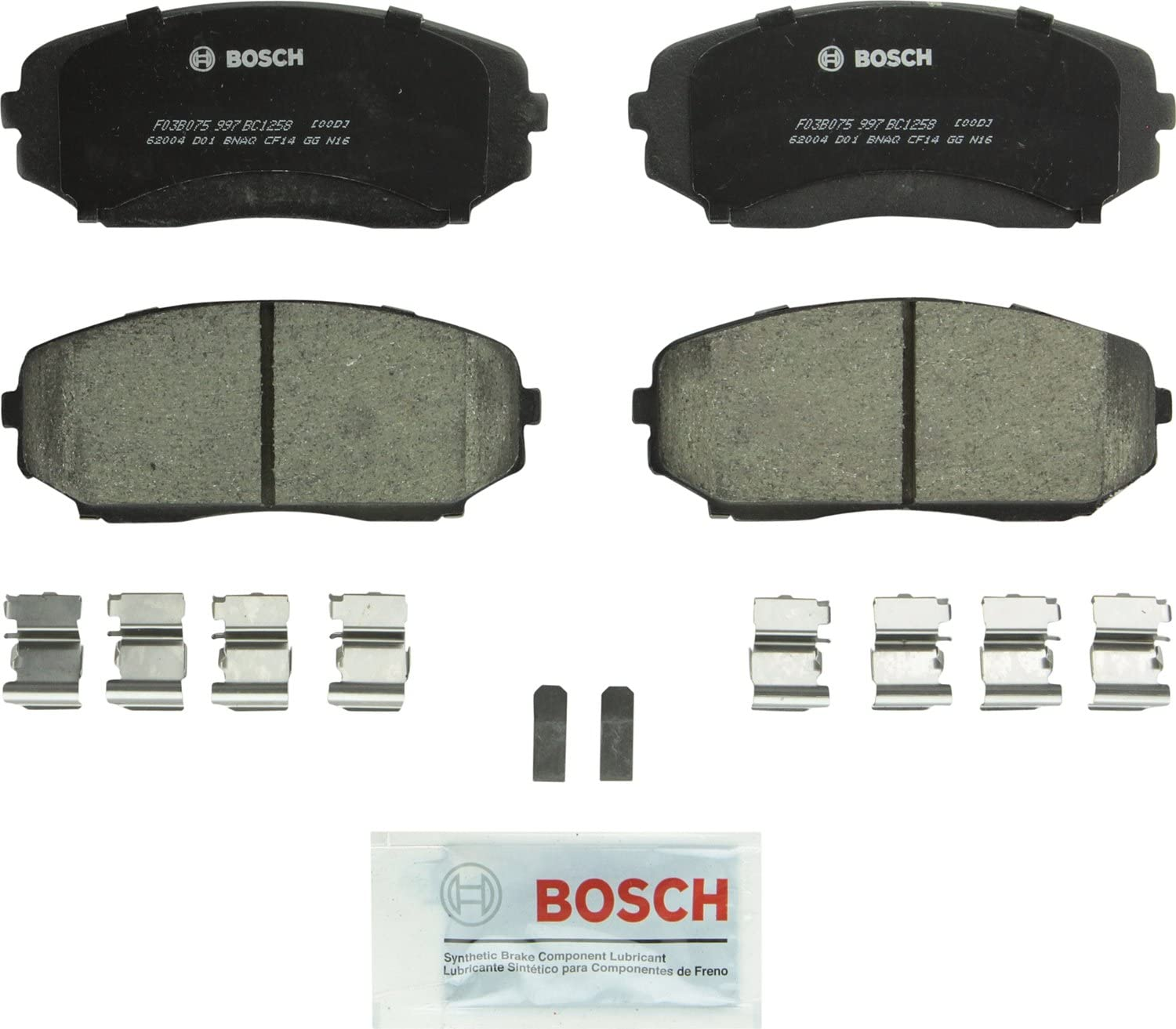 Disc Brake Pad Set-Quietcast Pads with Hardware Front Bosch BP369