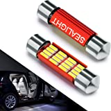 DE3423 Led Interior Lights Dome Light Bulb for Car - SEALIGHT 4014 Chipset Canbus Error Free 6418 DE3425 36mm 1.5 inches bulbs 6000K Xenon White