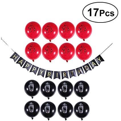 Amazon LUOEM Halloween Zombie Birthday Party Supplies Set Latex