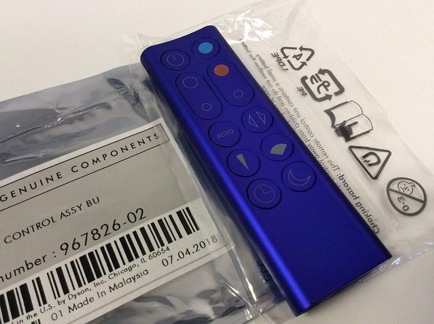 Dyson Replacement Remote Control 967826 02 For Dyson Pure Hot And Cool Link Purifier Blue Amazon Ca Home Kitchen
