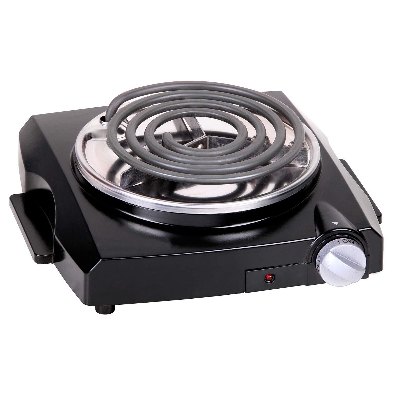 Techwood Single Burner Electric Coil Hot Plate, Countertop Burner, Portable Electric Cooktop
