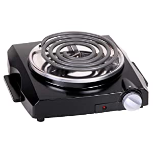 Techwood Single Burner Electric Coil Hot Plate, Countertop Burner, Portable Electric Cooktop