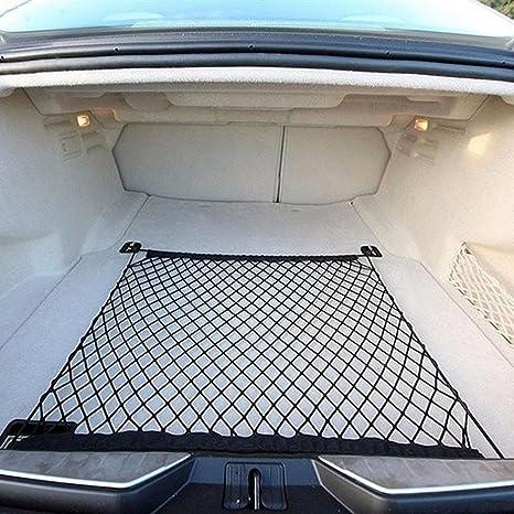 4 Clous Reze 70 70m Automobile Filet Rangement Coffre Voiture avec Crochets 4 Pi/èces de Fixation