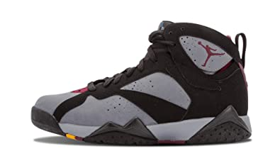 Nike Mens Air Jordan 7 Retro Black/Light Graphite-Bordeaux Leather Basketball Shoes Size