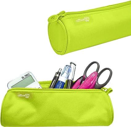 Colorline 59511 - Porta Todo Redondo, Estuche Multiuso para Viaje, Material Escolar, Neceser. Color Verde Lima, Medidas 22 x 6 x 6 cm: Amazon.es: Oficina y papelería