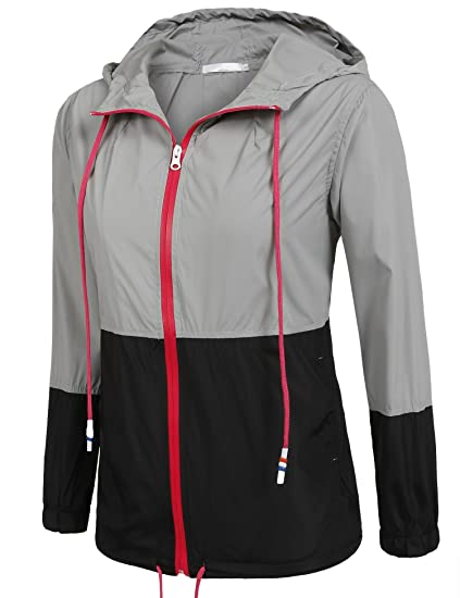 Amazon.com: Goldenfox Womens Windbreaker Waterproof Raincoat Outdoor Hooded Rain Jacket S-XXL: Clothing