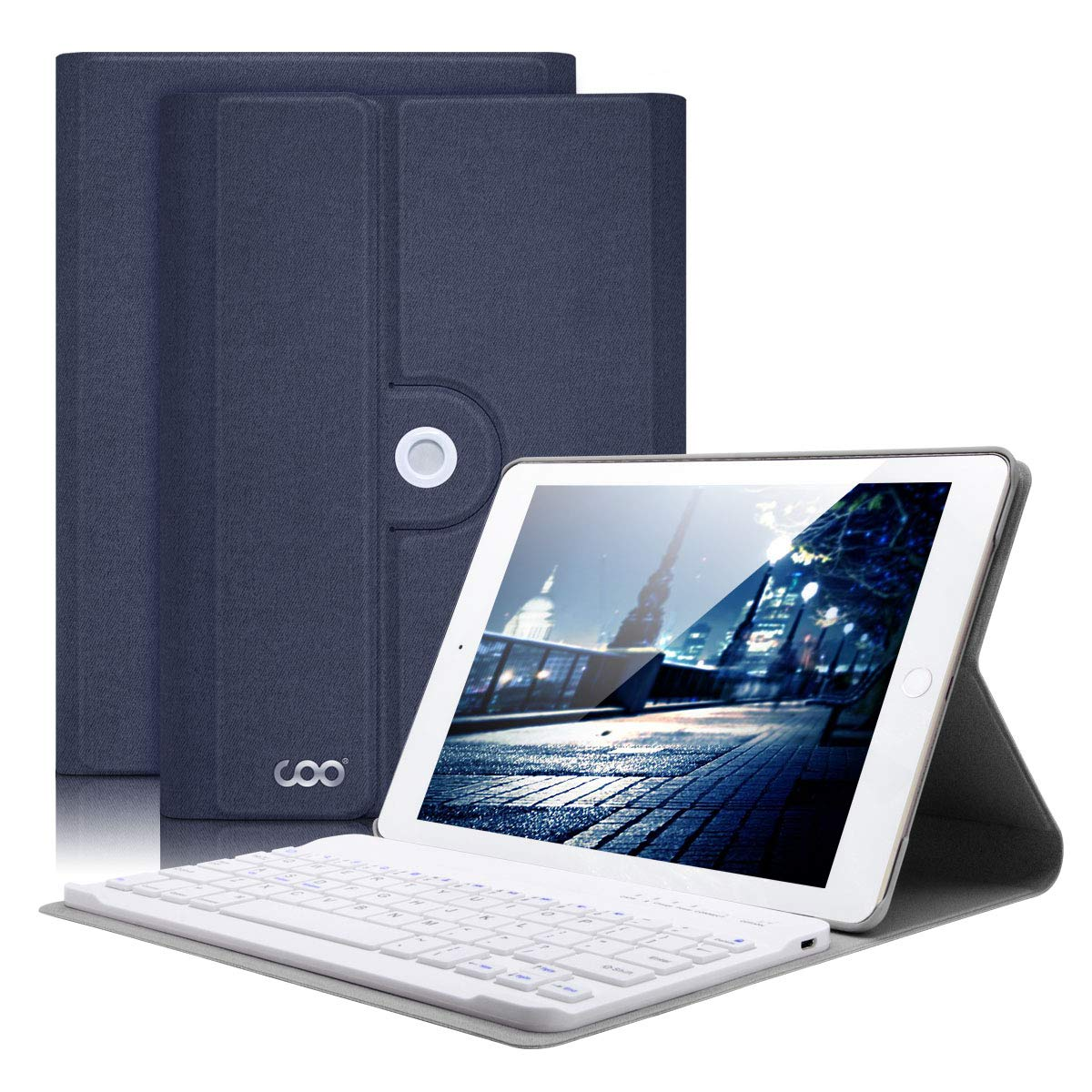 iPad Mini 4 Keyboard Case Only for Apple iPad Mini A1538/A1550, Wireless Bluetooth Keyboard & 360 Degree Rotation Magnetic Cover with Apple Sleep/Wake, Built-in Slide Proof Material - Adjust Any Angle COO