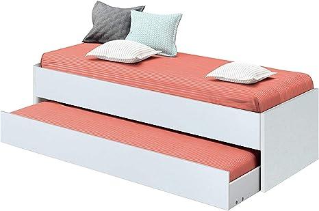 Abitti Cama Nido de Dormitorio Juvenil Color Blanco Brillo ...