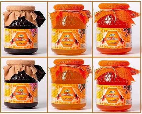 Pack 6 tarros de miel de 1 kg, brezo, romero y tomillo: Amazon.es: Alimentación y bebidas