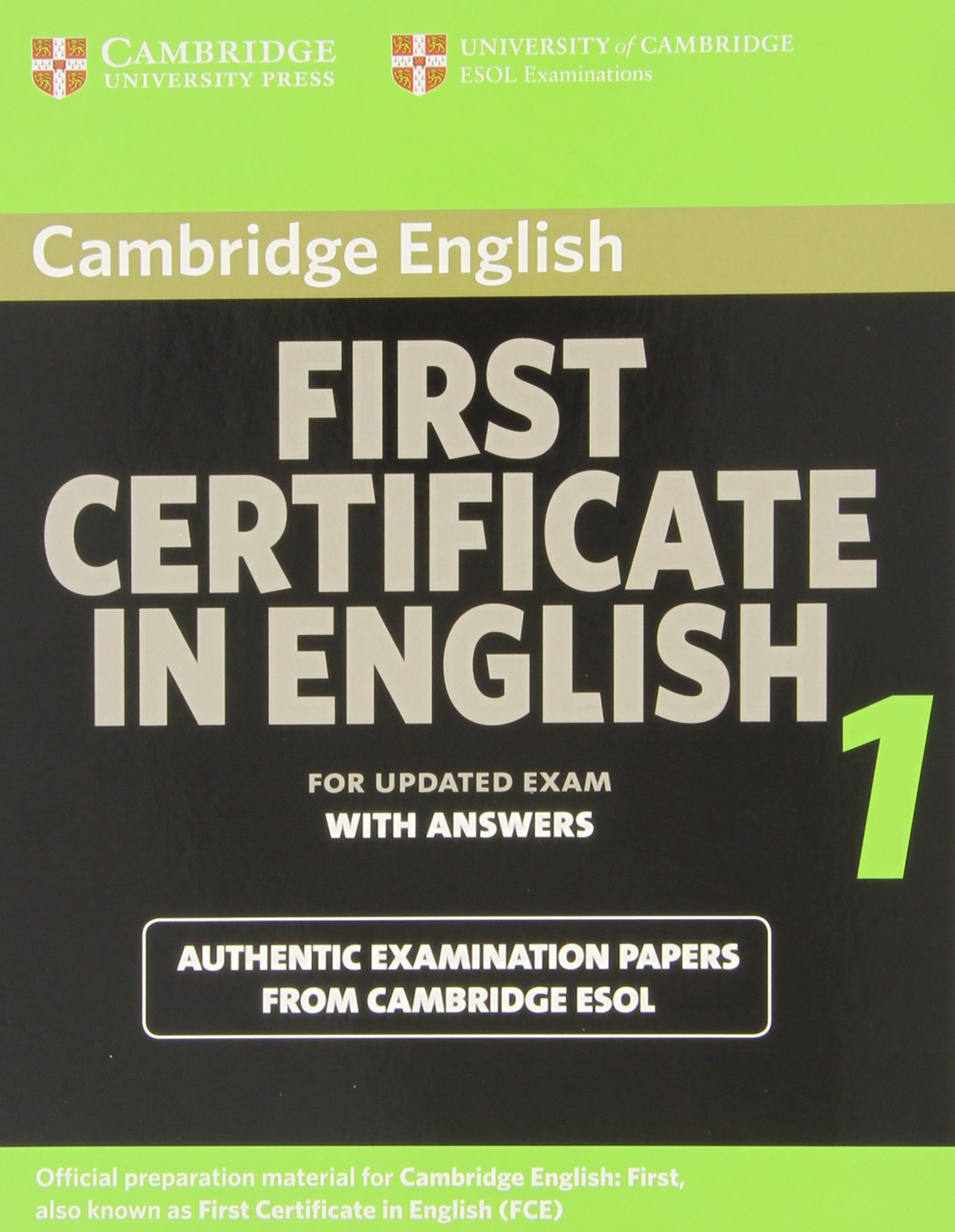 cambridge english first  Buy Cambridge First Certificate in English 1 for updated exam ...