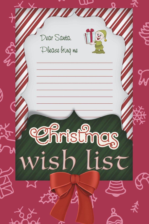 Christmas Wish List Ideas.Christmas Wish List 6x9 Journal Blank Lined Paper 100