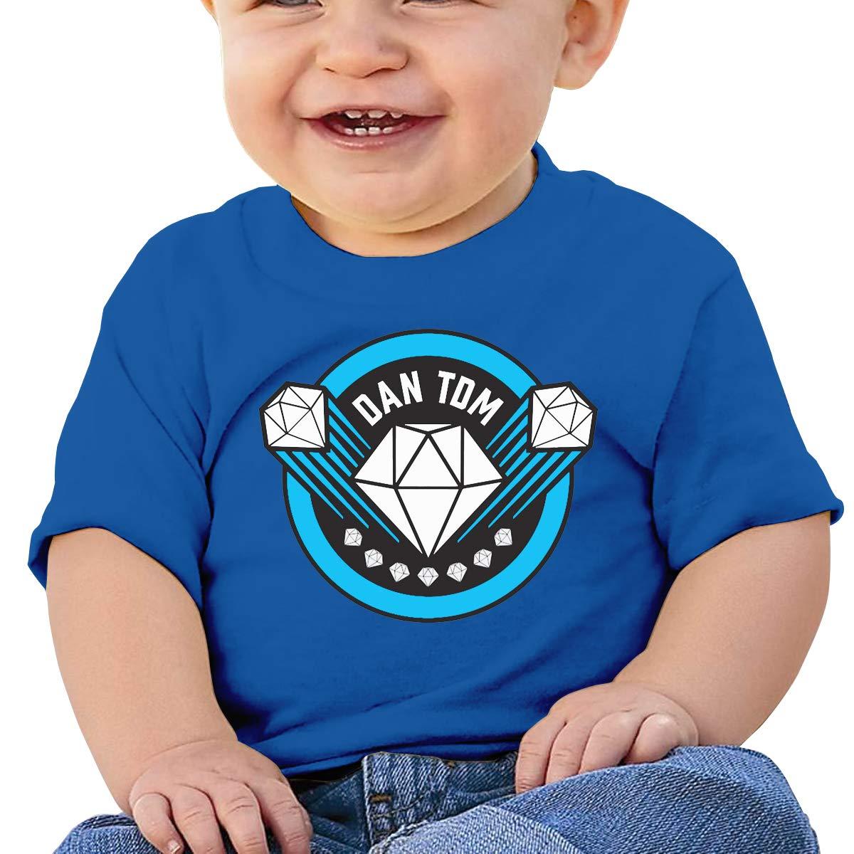 3DmaxTees Dan TDM Logo Short Sleeve Baby Shirt Cotton Round Collar T Shirts
