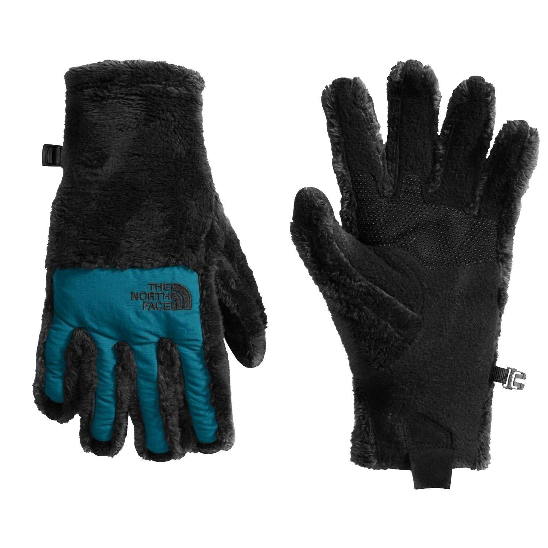 The North Face Women's Denali Thermal Etip Gloves (Large, Tnf Black(07)/Egyptian Blue)