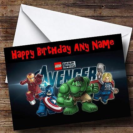 Los Vengadores Personaliseitonline Tarjeta De Cumpleaños