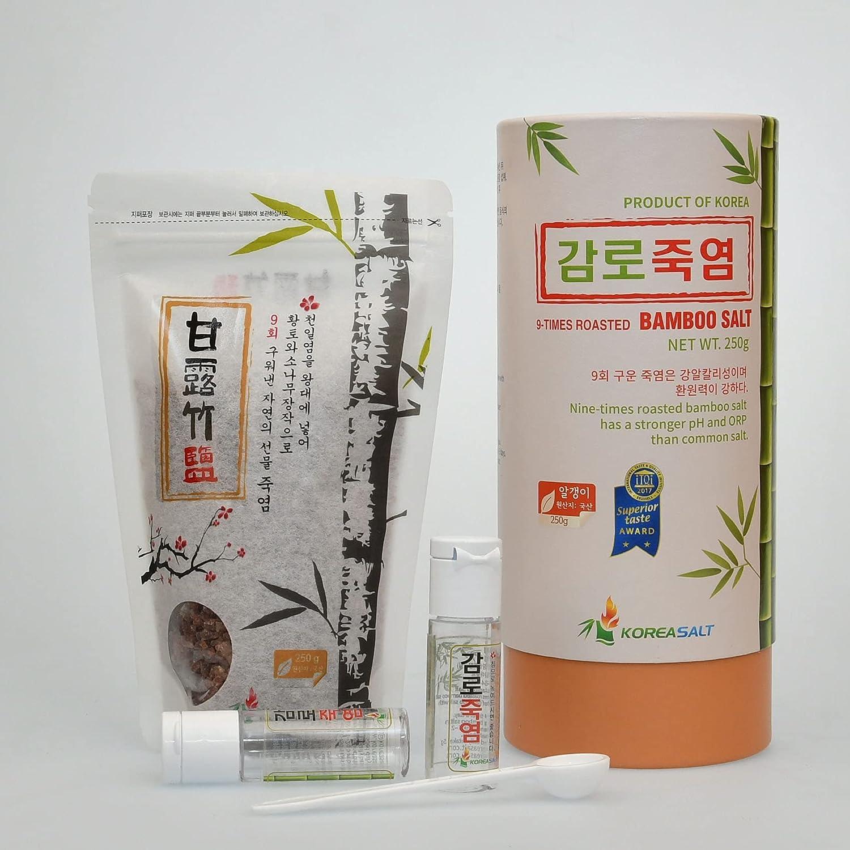 Florian KoreaSalt (8.81 OZ / 250 G) Grain 9 Times Roasted Bamboo Salt provide necessary minerals for Body (Made In Korea) Origin From South Korea / korean food (????)