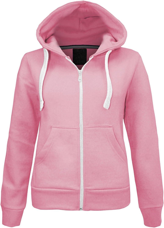 Sweat /à capuche uni zipp/é /à manches longues pour femme Poches avant Doux Extensible confortable Plus tailles S /à XXXXXXXL