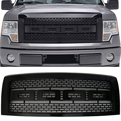 Amazon Com Grille Fits 2009 2014 Ford F150 Raptor Style Front