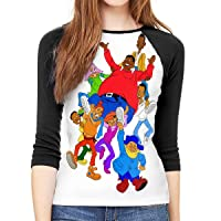 Fat Albert and The Cosby Kids Ladys Slim3/4 Long Sleeve T-Shirt Stylish Sportswear...