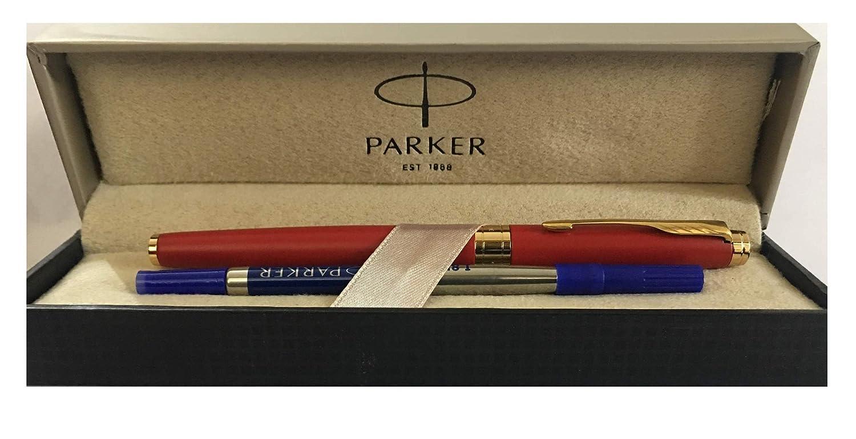 Parker Aster Lacque negro bol/ígrafo Roller adornos en cromo