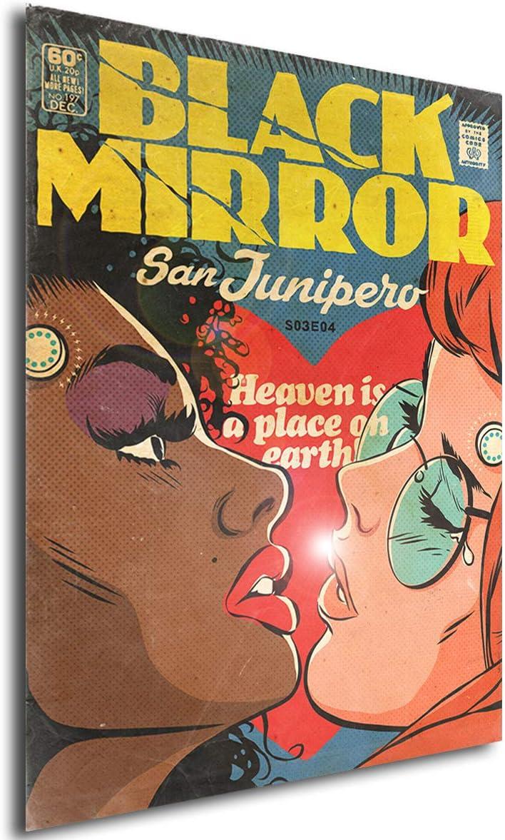 42x30 cm Instabuy Poster Black Mirror Vintage 10 A3