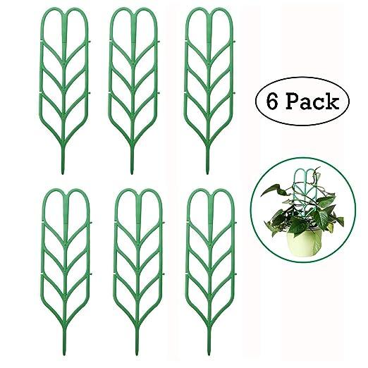 6 piezas Jardín enrejado para mini plantas trepadoras, forma de ...