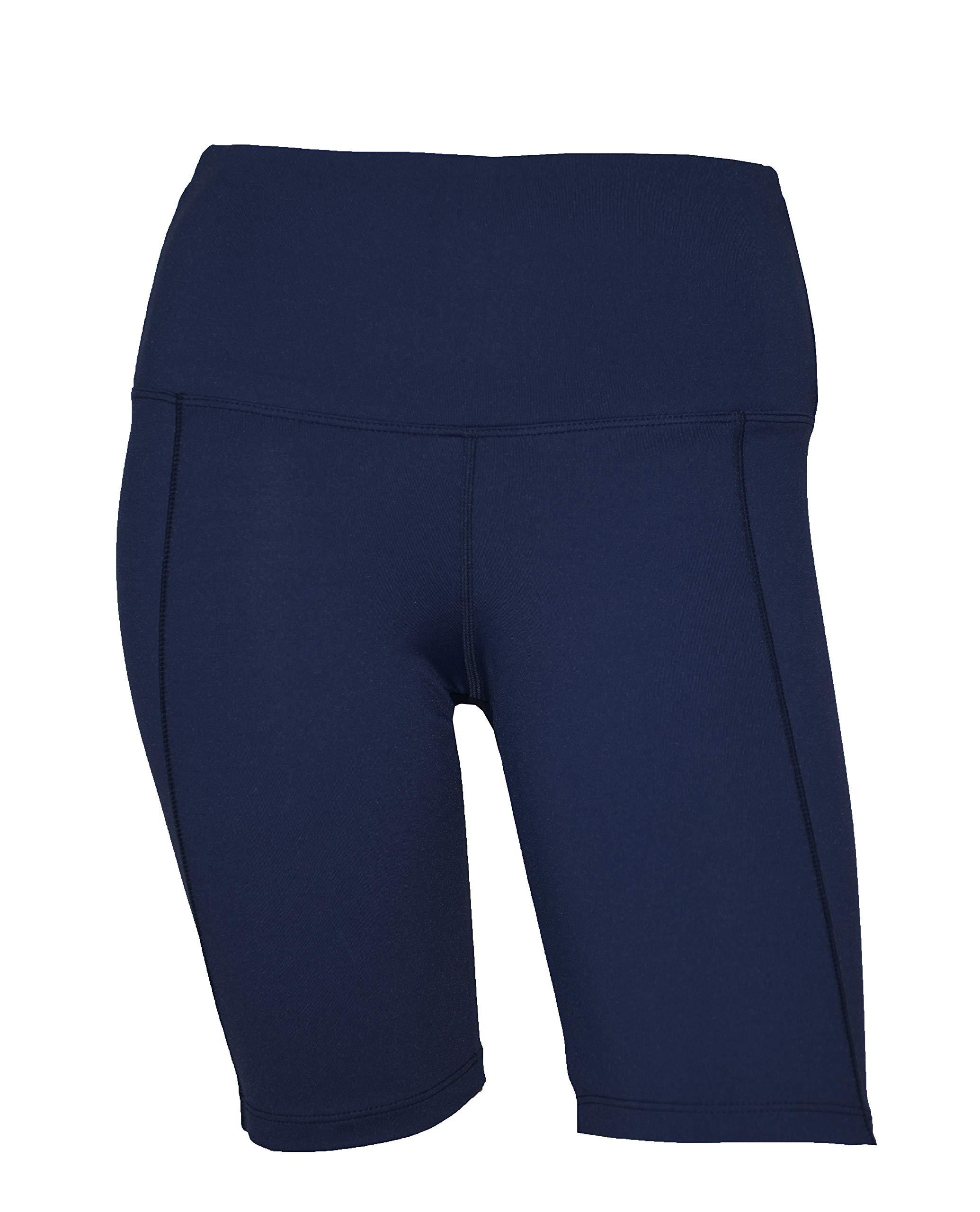 Private Island Women UV Swim Rash Guard Pocket Shorts Pants Yoga (XXL, Navy) by Private Island