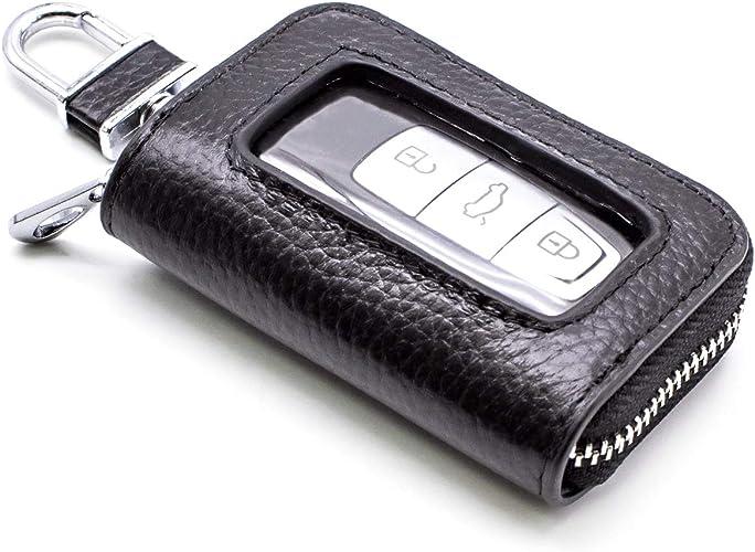 Unisex PU Leather Car KeyChain Card Holder Wallet Case key Organizer Bag LIN