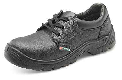 Click Dual Density Safety Shoe Steel Toe&Midsole Black - Size 41/07