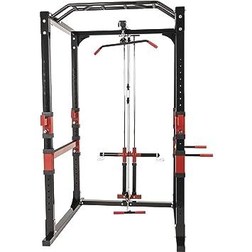 Power Lifting Station Rack Home Gym Incluye poleas: Amazon.es ...
