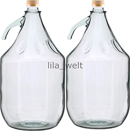 6 x botellas de vino de vidrio g/ärballon globo globo 5L cierre BDG5D