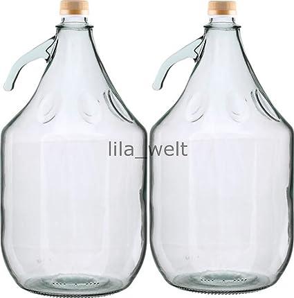 2 pieza 5L gärballon con rosca Botella Cristal Globo Aerostático Vino entrega gratuita