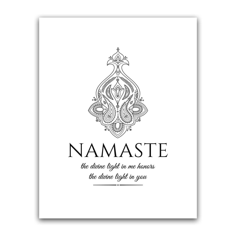 Amazon.com: Namaste Definition, Yoga Studio Decor ...