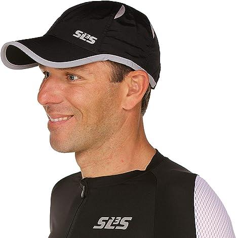 Skins Mens Run Cap Black Sports Running Breathable Reflective Lightweight