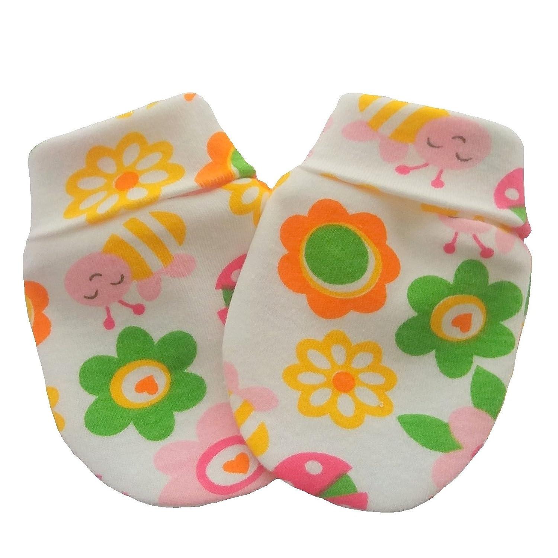 Organic Cotton Newborn Baby Anti Scratch Mittens Multi Color Summer Pattern