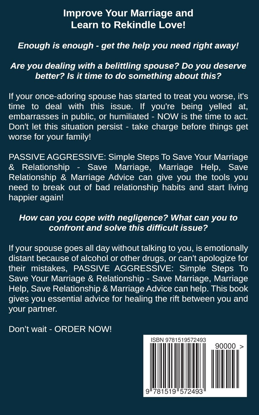 Passive aggressive in marriage