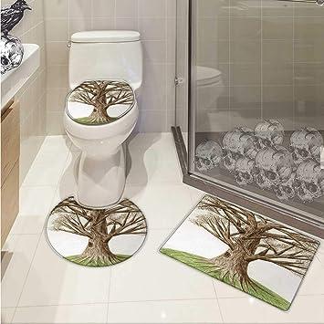 CARL Morris Baum des Lebens Badezimmer WC-Vorleger Set grün Baum ...