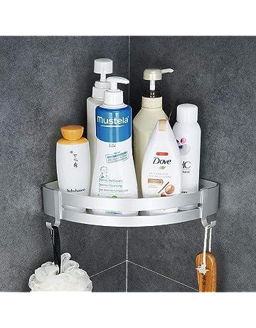 Hoomtaook Estante de baño Cesta para ducha, Almacenamiento, Organizador sin clavos, Sin daños