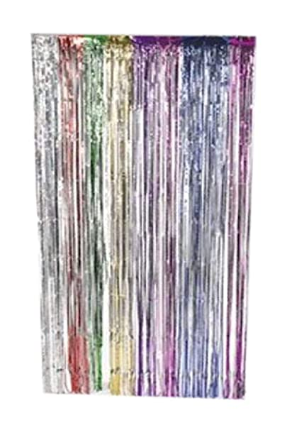 Fun Express Metallic Rainbow Foil Fringe Curtains 1 Piece