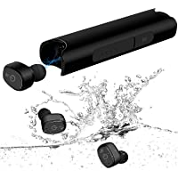 YIMAN NEWEST Wireless Earphones, Bluetooth In-Ear Earbuds, IPX7 Waterproof Bluetooth V5.0 Headphones with Mic, Charging Case, 36H Playtime 3D Deep Bass Stereo Sound for Sports